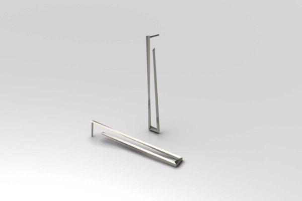 Faux Square silver earrings