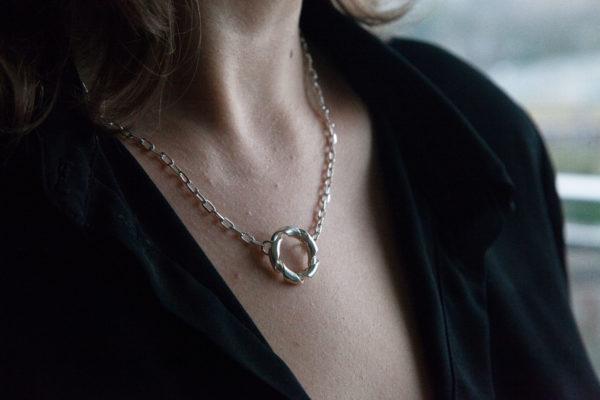 Hong Kong silver pendant