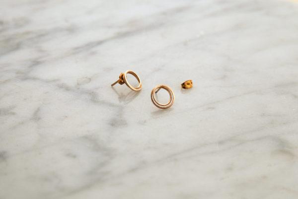 Laika brass and silver earrings for women