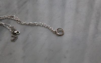 Laika silver pendant