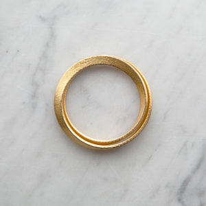 Mobius gold bracelet for women