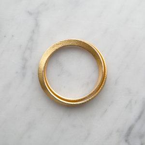 Mobius gold bracelet for women