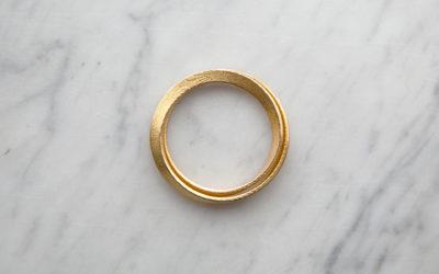 Mobius gold bracelet