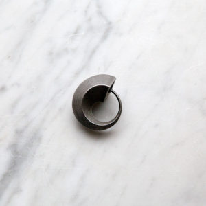 Ouroboros steel minimalistic keychain