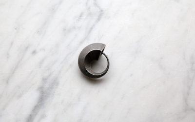 Ouroboros steel keychain